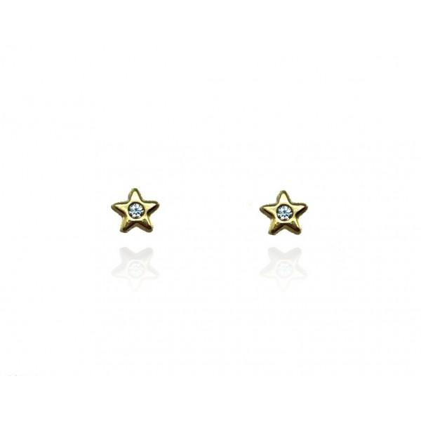 Pendientes Oro 18k Estrella