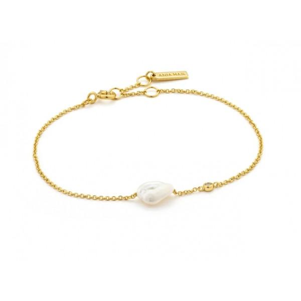 Pulsera Ania Haie Gold Pearl B019-01G
