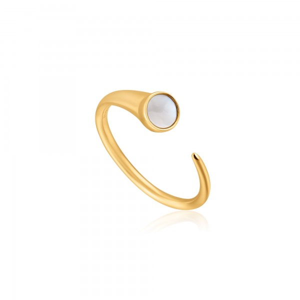 Anillo Ania Haie Gold Mother Of Pearl R022-02G