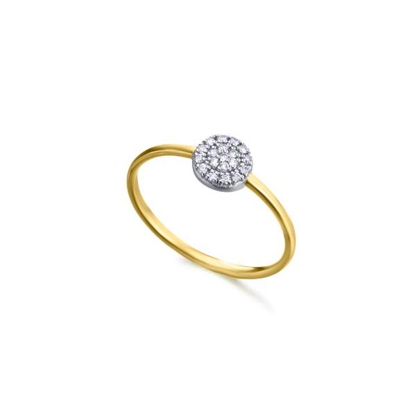 Anillo Oro 18k Lecarré Roseta Diamantes GA079OA