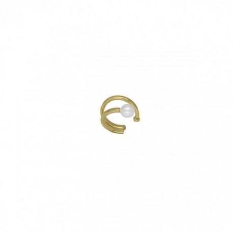 Pendiente Victoria Cruz Ear Cuff Perla A3967-DT