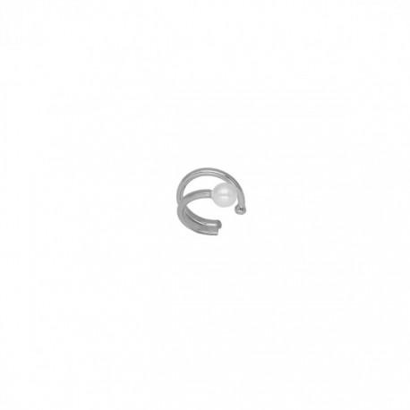 Pendiente Victoria Cruz Ear Cuff Perla A3967-HT