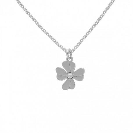 Collar Victoria Cruz Flor Crystal de April A3975-07HG
