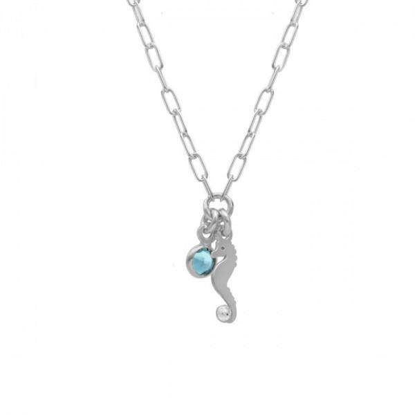 Collar Victoria Cruz caballito de aquamarine Ocean A4019-10HG