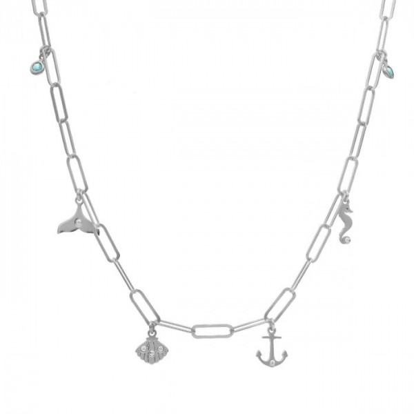 Collar Victoria Cruz motivos de aquamarine Ocean A4023-10HG