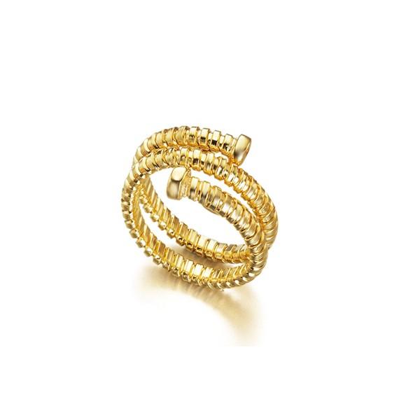 Anillo Lecarré Tubogas Gold Ring  LA065