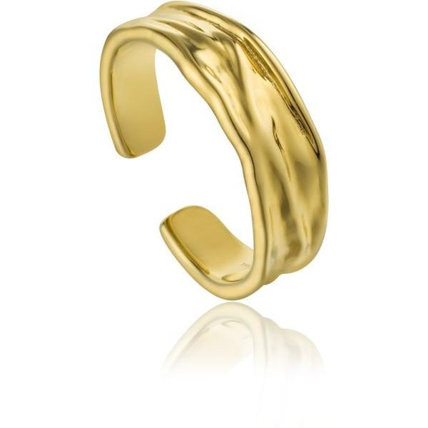 Anillo Ania Haie Gold Crush R017-01G