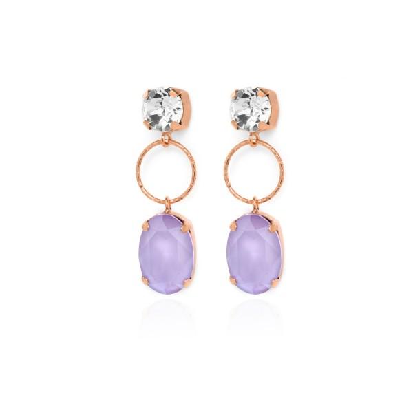 Pendientes Victoria Cruz Lilac Crystal A3537-30T